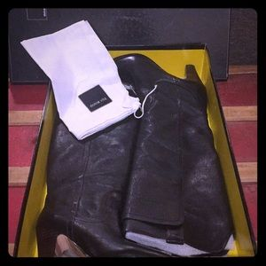 Black Dolce Vita tall heeled boots, excellent!